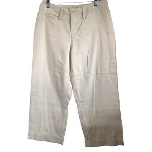 A New Day NWT Women's Wide-Leg High Rise Crop Pants in Cream Size 8